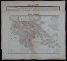 n°85) Gravure ancienne (+ texte) GRECE MODERNE (XIXème)