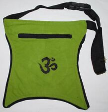 New Fair Trade Bum Bag Pouch Belt - Hippy Ethnic Ethical Nepal Psy Om Aum Ohm