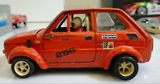 FIAT Abarth 126  Arancione POLITOYS  1:24 VINTAGE MADE IN ITALY RARISSIMA