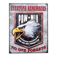 "segno del metallo "" POW MIA "" You Are Not FORGOTTON SEGNO US Army NOSE ART Seals"