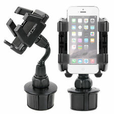 Rotating In-Car Cup Holder Mount with Adjustable Arms For Use W/ Apple iPhone 5s