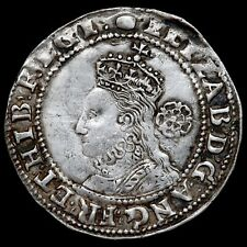 More details for elizabeth i, 1558-1603. sixpence, 1592, mm. tun. sixth issue. bust 6c.