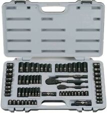 Stanley Black Metric SAE Chrome Reversible Ratchet Socket Set 69 Piece 6 Point