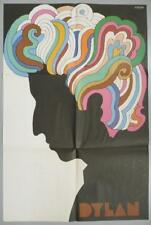 Original Vintage 1966 Bob Dylan LP Poster insert by Milton Glaser ~ Near Mint