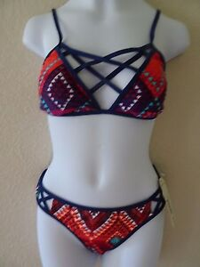 NWT ARIZONA BIKINI SWIMSUIT JUNIORS SIZE SMALL COLORFUL AZTEC