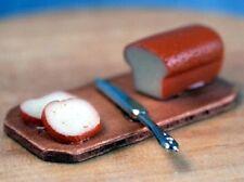 Casa de muñecas en miniatura 1/12th Escala Pan, Cuchillo Y Tablero