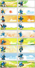 48 Smurfs Personalised Name Sticker,Label,Tag