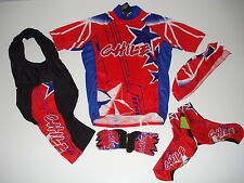 New size XL  CHILE Team Chilean Cycling Flag Bike Set Jersey Bib Shorts Gloves +