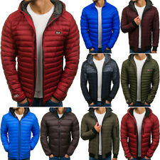 BOLF Mens Winter Jacket Puffer Bubble Hooded Quilted Graphic Mix 4D4 Sport