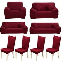 Stretch Sofa Cover Slipcover 1/2/3/4 Seater Couch Protector Chair Loveseat Cover