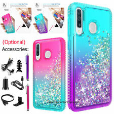 For Samsung Galaxy A20s Luxury Liquid Glitter Bling Phone Case Accessories