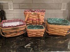 Lot of 4 Longaberger Baskets Christmas Mixed Lot