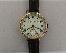 RARE IWC International Watch Co PEERLESS 1917 Solid 15k Mens Wristwatch NZ Dial