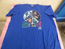 T-shirt Bob Marley One Love Rasta Roots L blue
