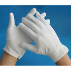 Mens' Formal Parade White Dress Gloves Polyester Cotton with Snaps One Size NEW