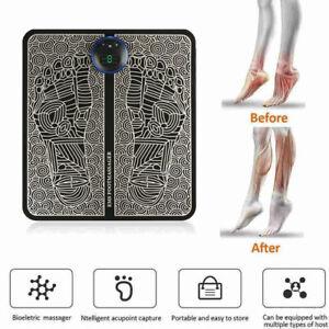 Electric EMS Foot Massager Leg Deep Kneading Muscle Relax Machine Mat Spa UK