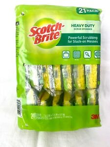 Scotch-Brite Heavy Duty Scrub Sponges 21 Individual Wrapped Scrub Sponges