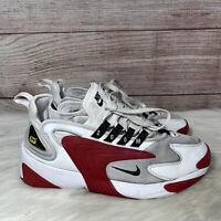 Nike Zoom 2K (White/Black-Gym Red-White) Men's Size 9 Shoes AO0269-107