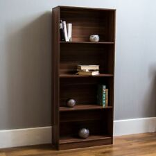 Cambridge 4 Tier Large Bookcase Display Shelving Storage Unit Wood Stand Walnut