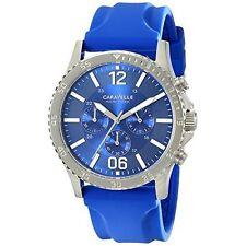 Caravelle New York Men's 43A117 Analog Display Japanese Quartz Blue Watch