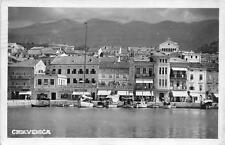 C3254) CROAZIA CRIKVENICA CIRQUENIZZA PANORAMA DEL PORTO. VG NEL 1942.