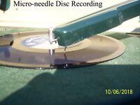 Micro-needle cutting stylus presto vinyl rek-o-kut RCA Wilcox-Gay record lathe