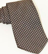 Nautica Brown  Executive Tie 100%  Silk Made in USA Tie Necktie