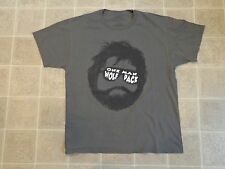 HANGOVER One Man Wolf Pack T-SHIRT Mens L Grey Alan Face Sunglasses Funny Movie