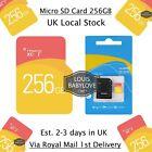 256GB TF Flash Ultra Micro SD Card Camera Memory SDHC SDXC + Adapter Class 10 UK