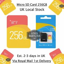 256GB TF Flash Ultra Micro SD Card Camera Memory SDHC SDXC + Adapter Class 10 UK