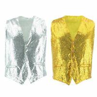 Shiny Sequin Waistcoat Firefly Blazer Party Dressing up