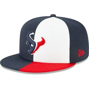 Houston Texans Hat New Era 59Fifty Fitted Cap 7-1/4 Texas Flag Red White Blue