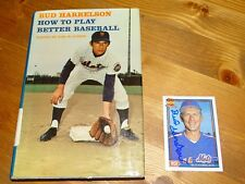 Bud Harrelson Autograph How to Play Better Baseball Book / 91 Topps card