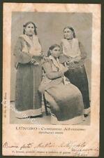 Calabria. LUNGRO, Cosenza. Costume Albanese. Cartolina d'epoca nel 1904
