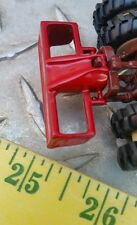 1/64 ERTL custom farm toy red 3pt rear back box blade grader metal display nice!