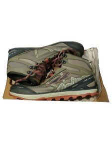 Altra Lone Peak 4.0 Mid Mesh Men's Trail Running Shoes Ivy Green/Red Size 10