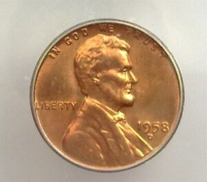 1958-D LINCOLN CENT ICG MS 67 RED LISTS FOR $260!!