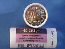 """Roll  Rouleau 2017 – Luxembourg – 25 x 2 Euro coins - """"50th Anniv Army """""""