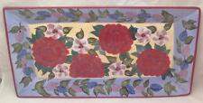 "Flowers Roses Vines Rectangular Platter 19"" x 10"" ,Certified International"