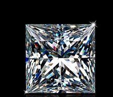 2 pcs - 0.5 Ct Russian Lab Diamond PRINCESS CUT White 4 mm