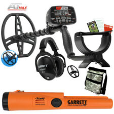 Garrett At Max Waterproof Metal Detector with Pro Pointer At Z-Lynk, and Pouch