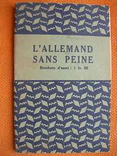 BROCHURE: L'ALLEMAND SANS PEINE – ASSIMIL   ILLUSTRATIONS PIERRE SOYMIER