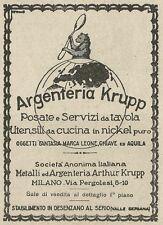 W3529 Argenteria KRUPP posate e servizi da tavola - Pubblicità 1929 - Advertis.