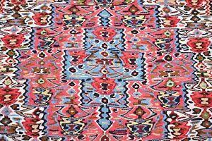 Terrific Senneh Kilim Rug 31'' x 42'' Caucasian Oriental Senneh Wool Kilim Rug