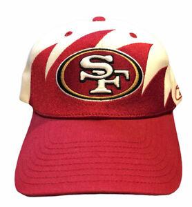 Rare Vintage Reebok San Francisco 49ers Shark Tooth Hat NFL Equipment Latch Hook