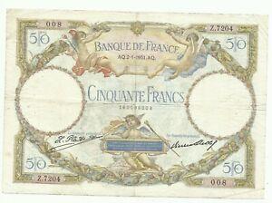 """50 FRANCS LOM SANS SANS INSCRIPTION """" LUC OLIVIER MERSON"""""""