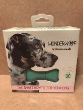 Wonderwoof Dogquamarine Blue Dog Fitness Activity Tracker GPS Smart Bow Tie