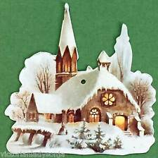 Victorian Christmas Ornament Church w/Steeple