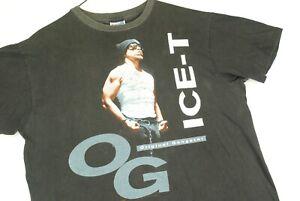 Vintage 90s Ice T OG Original Gangster Rap T Shirt 1991 Mens XL Black