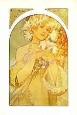 Mucha 1976 Authentic Vintage Art Nouveau Stampa La Fleur